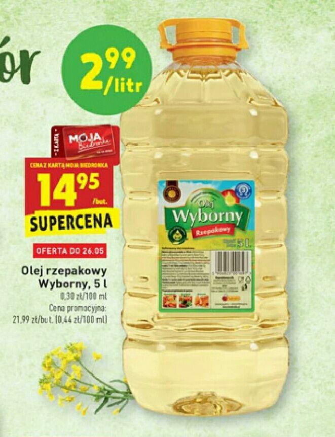 Olej rzepakowy Wyborny 5L Biedronka
