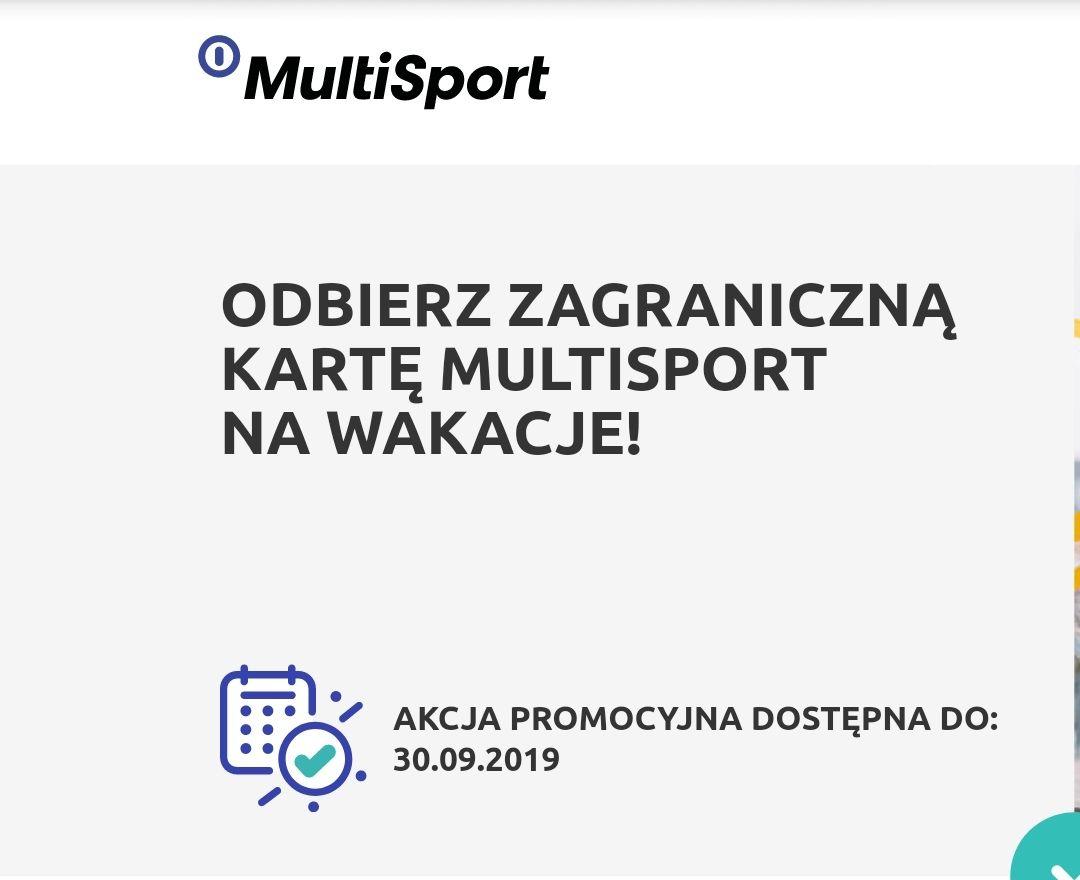 Zagraniczna karta MultiSport bez dodatkowych kosztów w Chorwacji, Bułgarii, Czechach lub na Słowacji