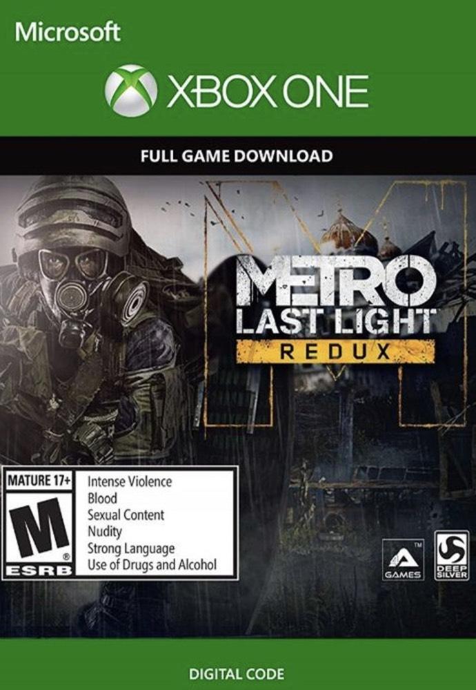 Metro Last Light Redux Xbox one cdkesy