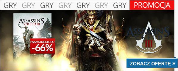 Assassin's Creed III za 45,99zł oraz dodatki od 6,99zł (PC)!! @ cdp.pl