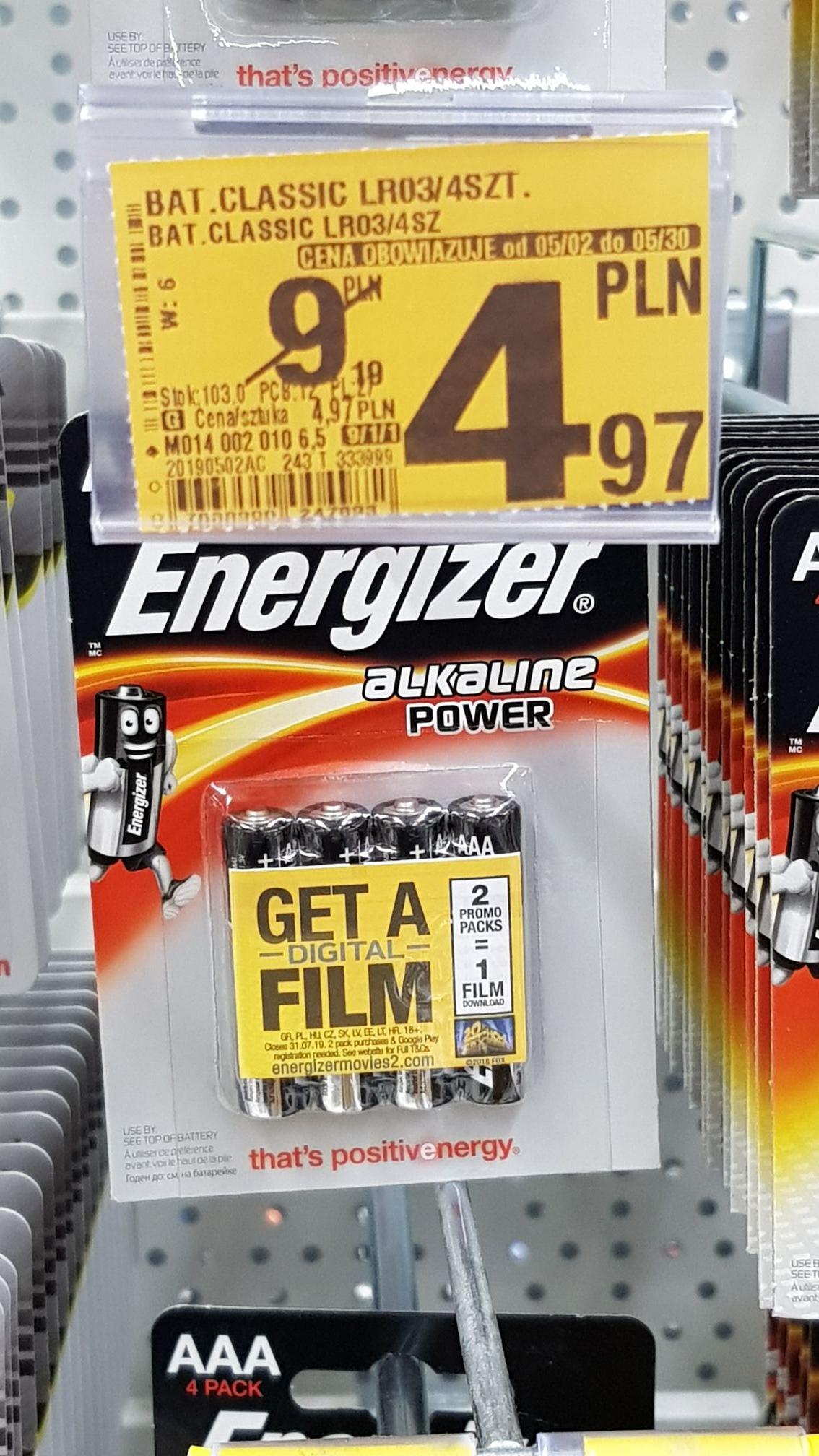 Baterie Energizer AAA Auchan Piotrków Trybunalski