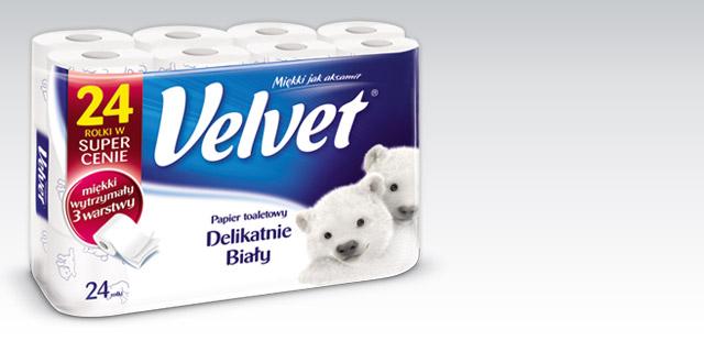 Papier toaletowy Velvet 24 rolki za 14,99zł @ Biedronka