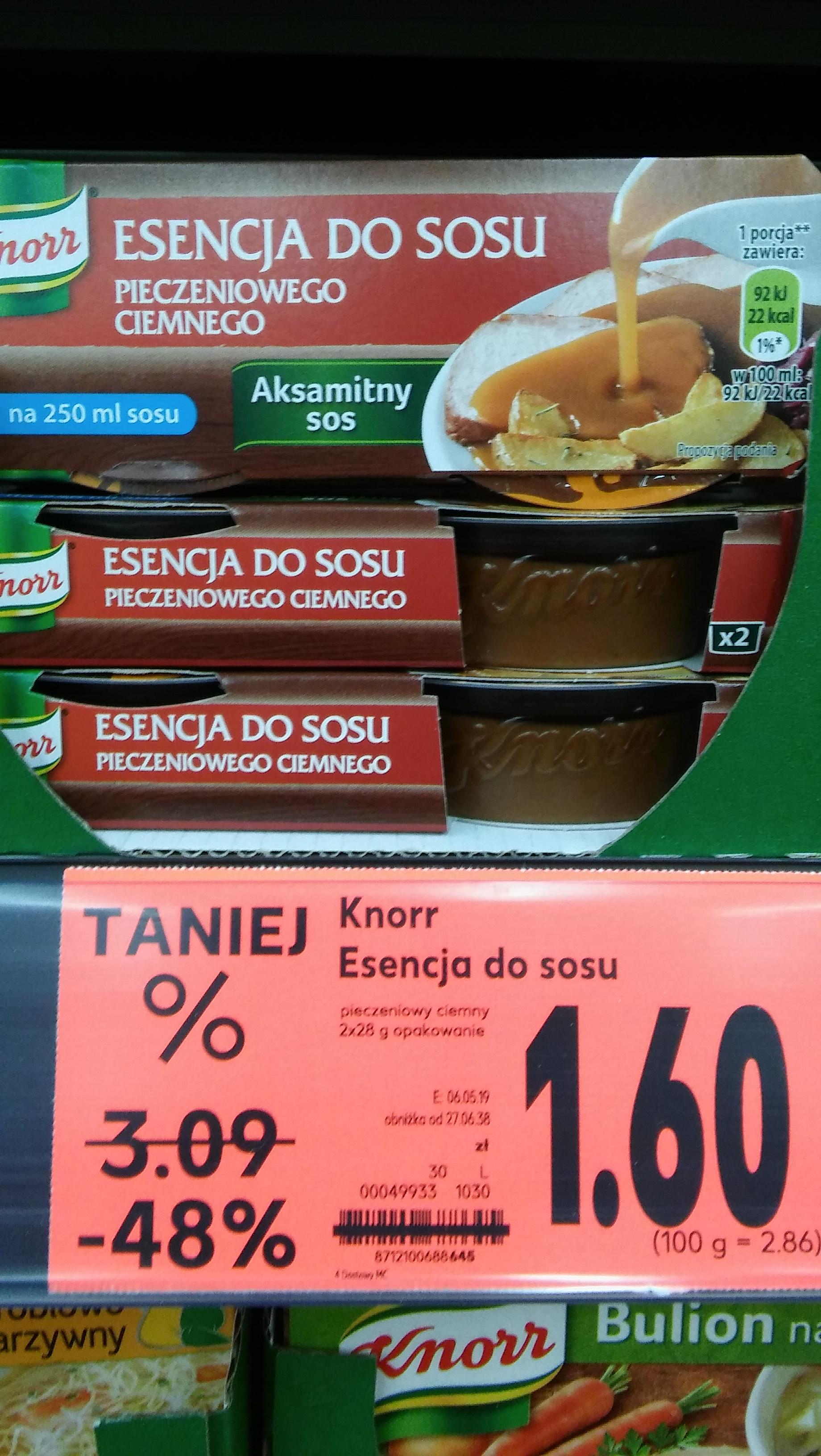Knorr esencja do sosu pieczeniowego ciemnego @kaufland