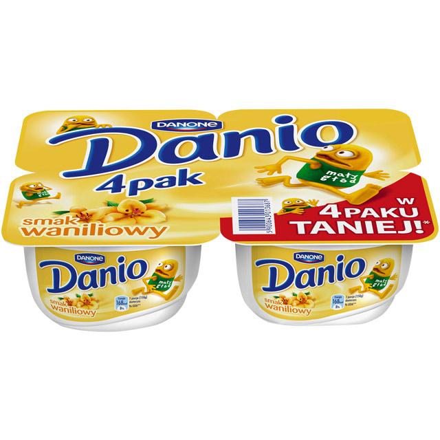 Czteropak Danio za 3,79zł @ Intermarche