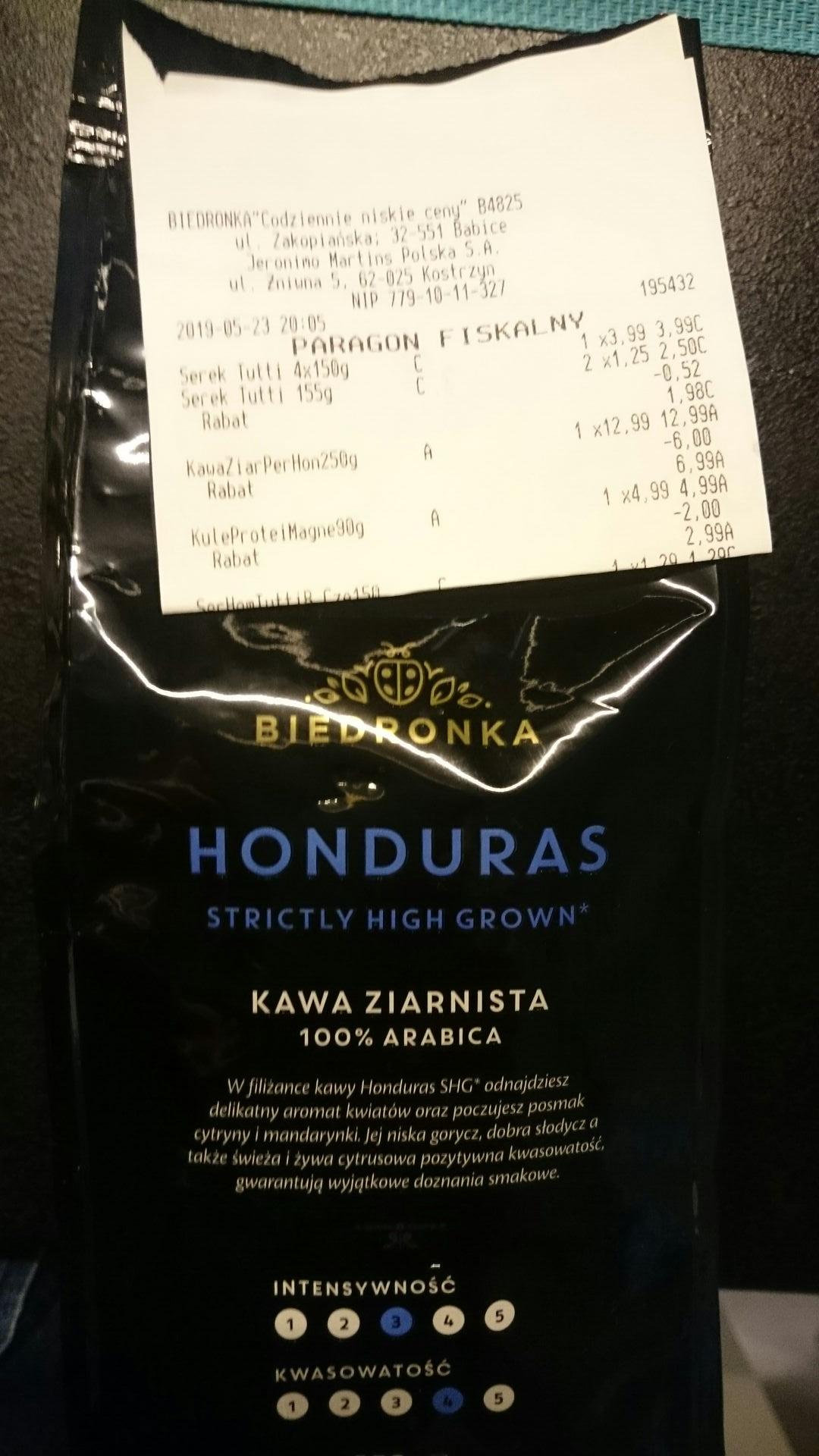 Kawa Biedronka Honduras 250g