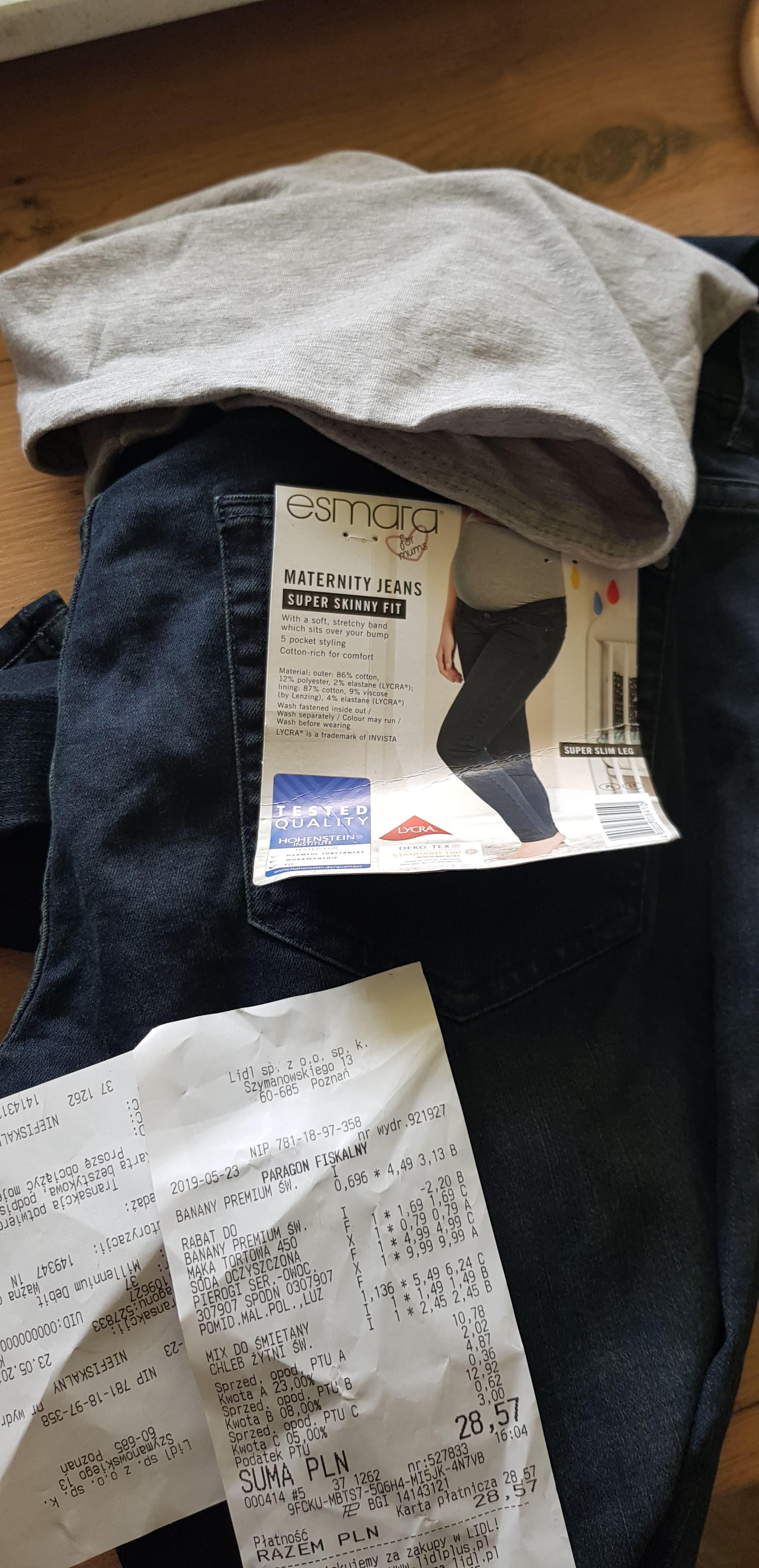 Lidl: jeansy ciążowe 9.99 zł
