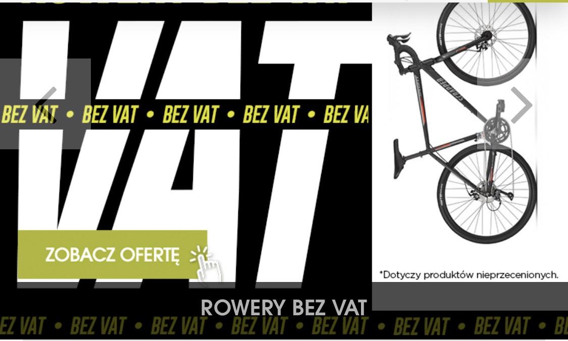 Go-Sport Rowery bez VAT