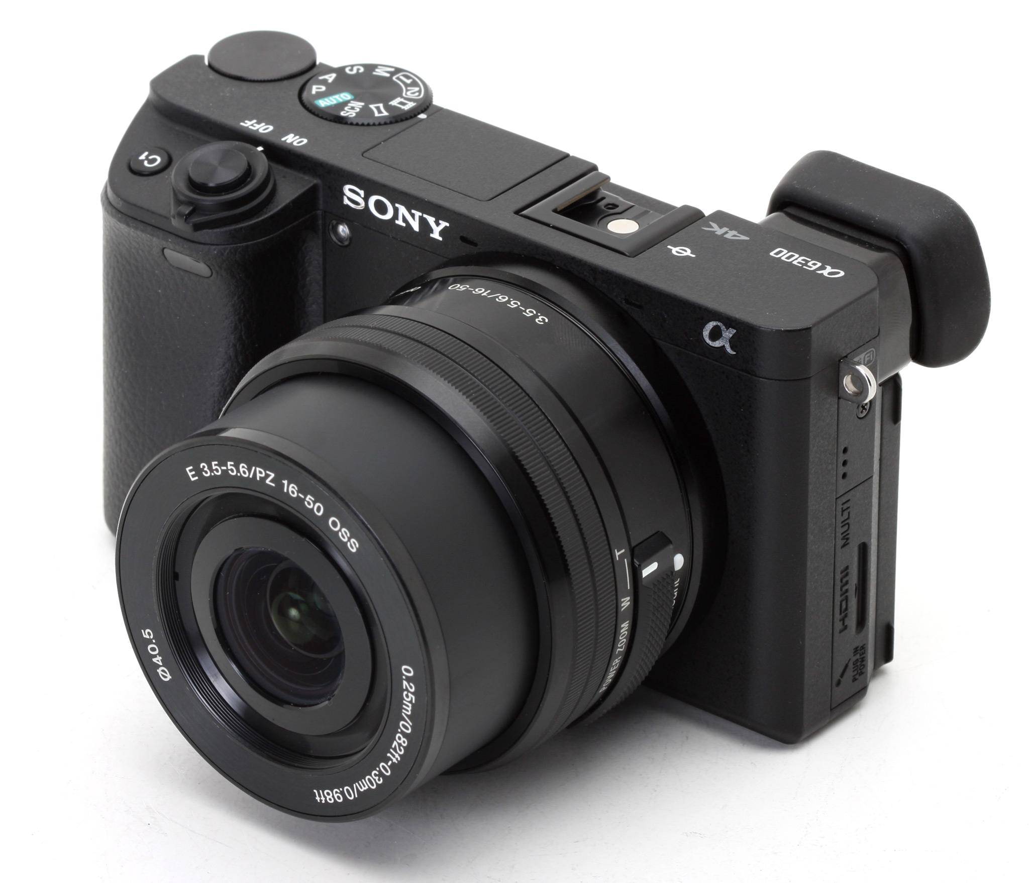 Aparat Sony A6300 + kit SEL 16-50mm 4K bezlusterkowiec
