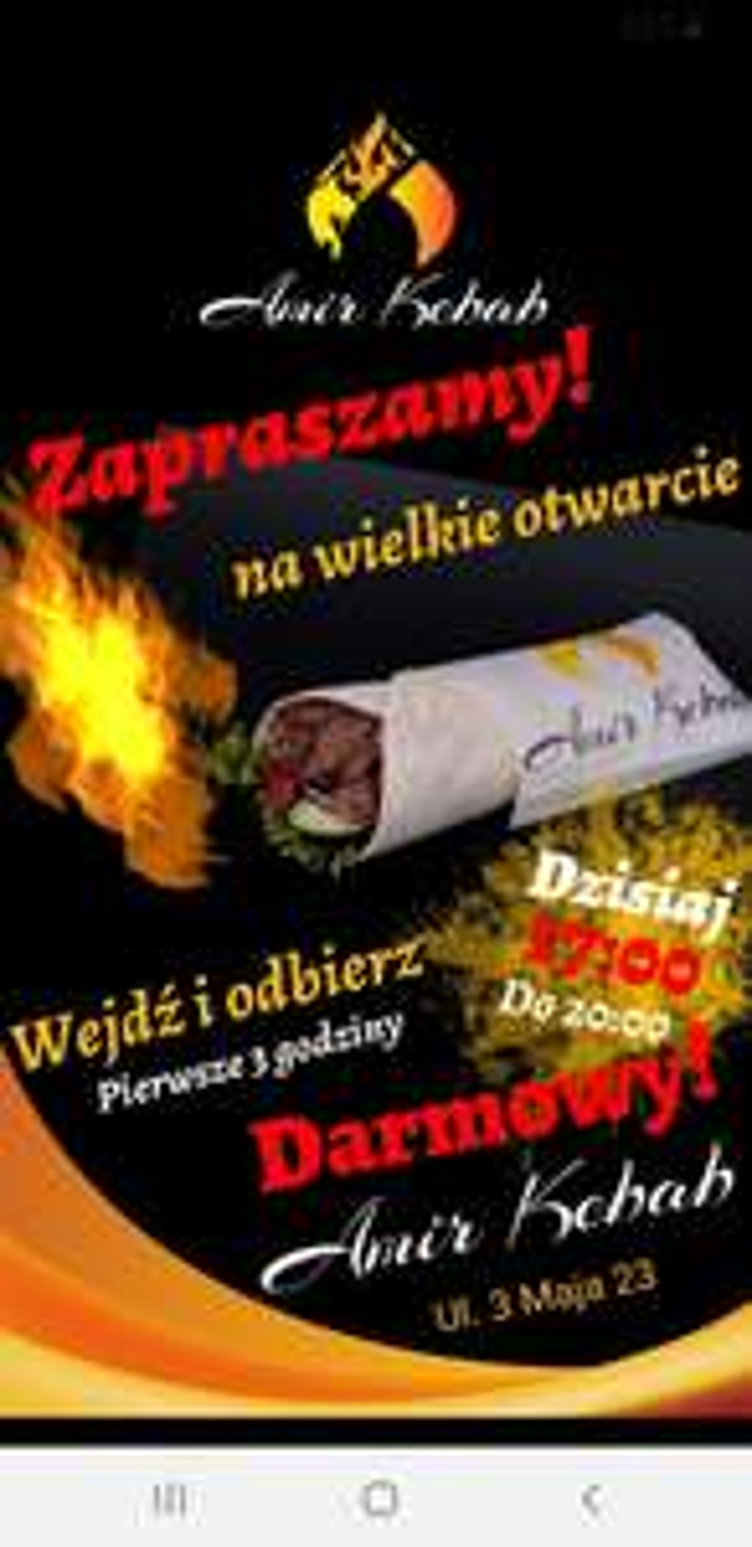 Darmowy kebab przez 3 godziny w Katowicach