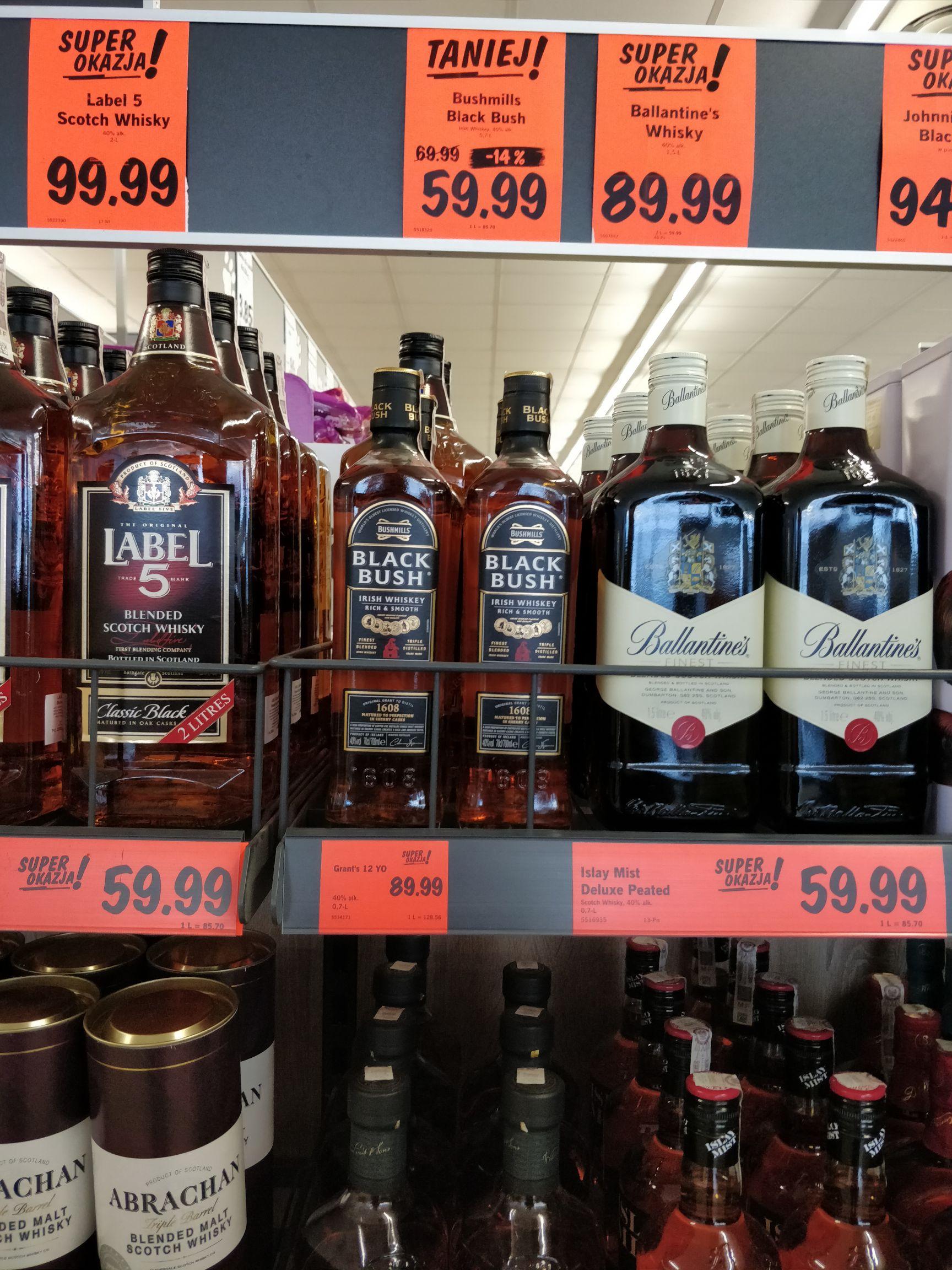 Whisky Bushmills Black Bush 0.7l w Lidlu za 60 zł