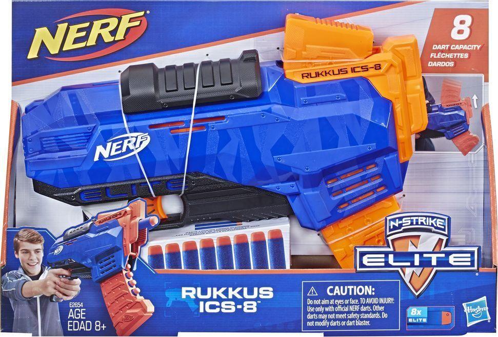 Nerf N-Strike Elite Rukkus ICS-8 (E2654), dostawa Full opcje za 0zł, też model Microshots- ten z odb . za 0zł