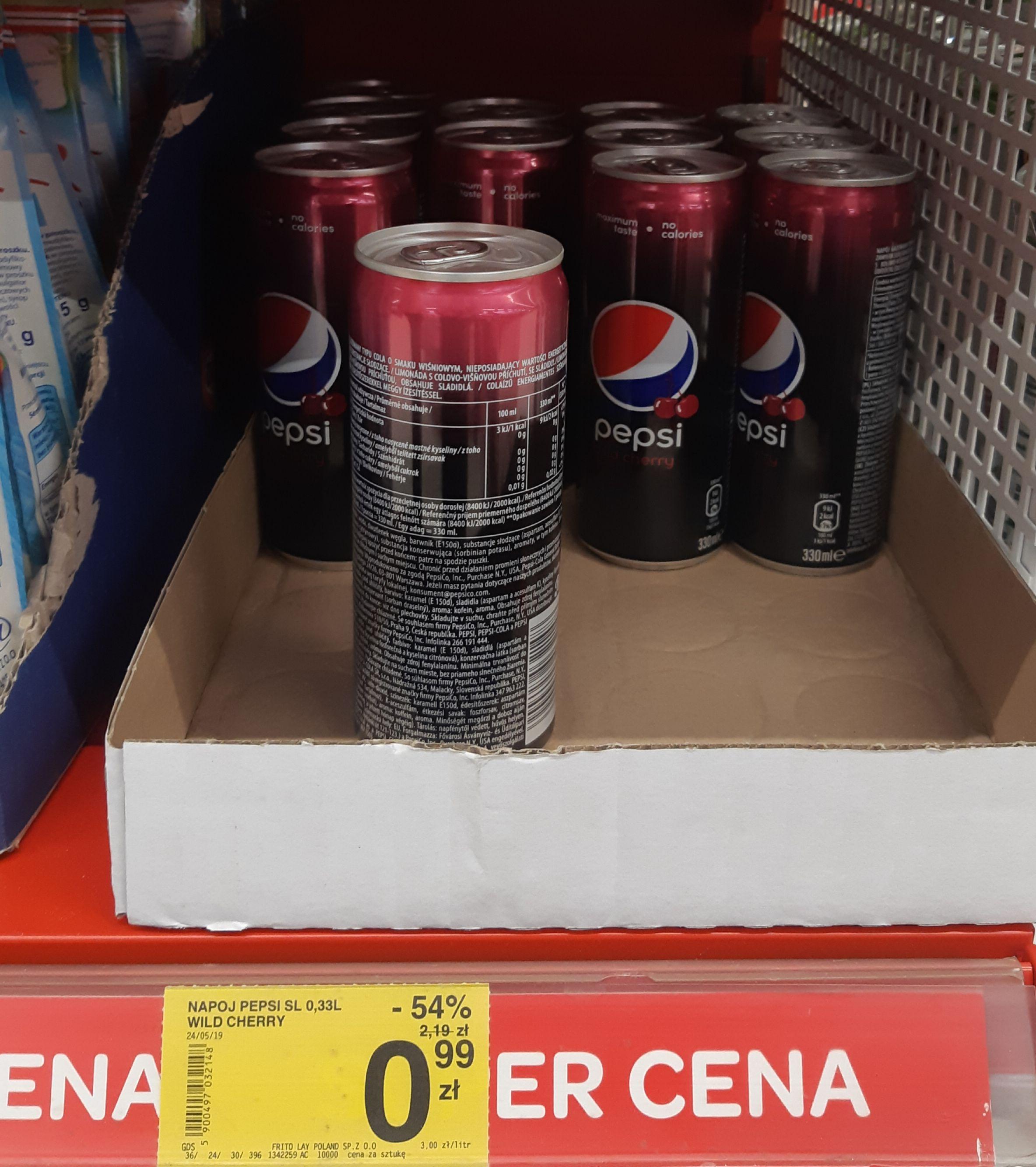 Puszka Pepsi Cherry - Carrefour Nowy Sącz