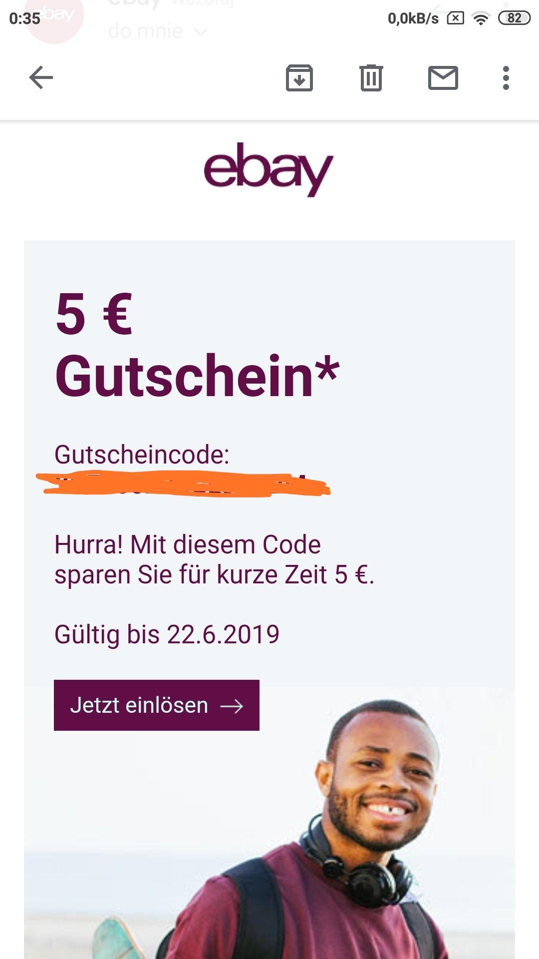 Darmowe 5$ na niemiecki ebay Sprawdź maila !