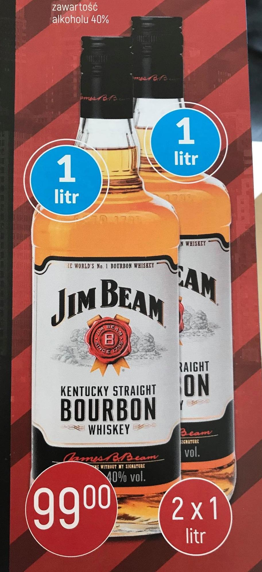 JIM BEAM BOURBON WHISKEY 2 litry w cenie 99zł!