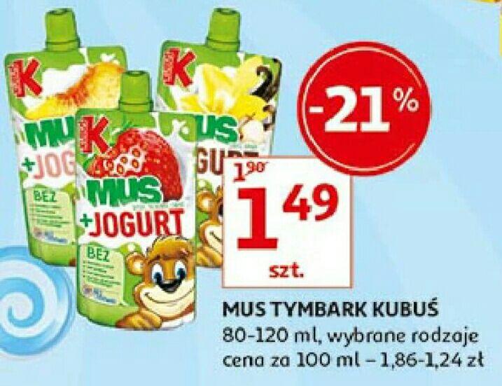 Mus Kubuś lub Tymbark w Auchan 1 szt