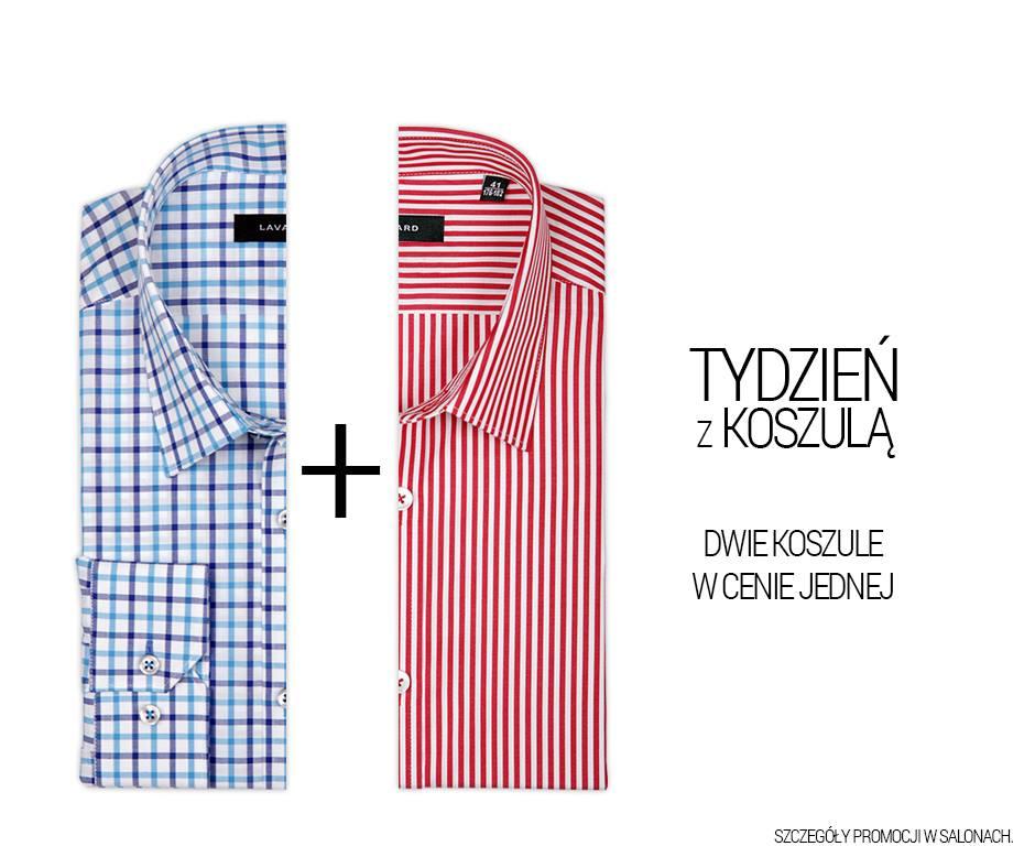 2 koszule w cenie 1 oraz dodatkowe rabaty na przecenę @ Lavard
