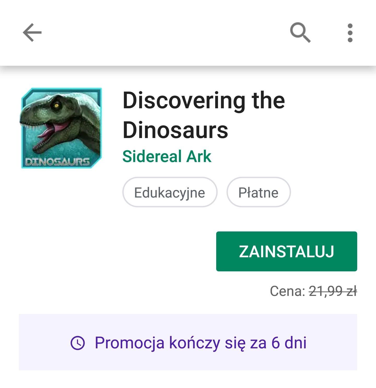 Darmowa encyklopedia / gra o dinozaurach