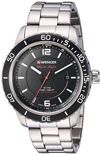 Zegarek Wenger Roadster Black Night na bransolecie $59.31