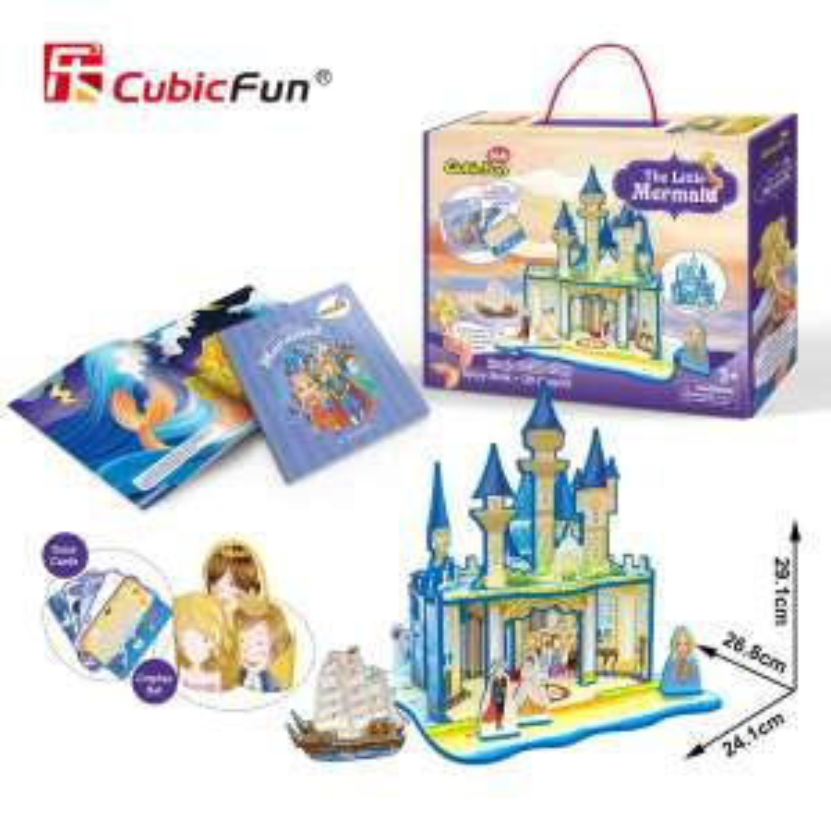 Puzzle 3D Cubic Fun Mała Syrenka EMPIK Prezent na Dzień Dziecka