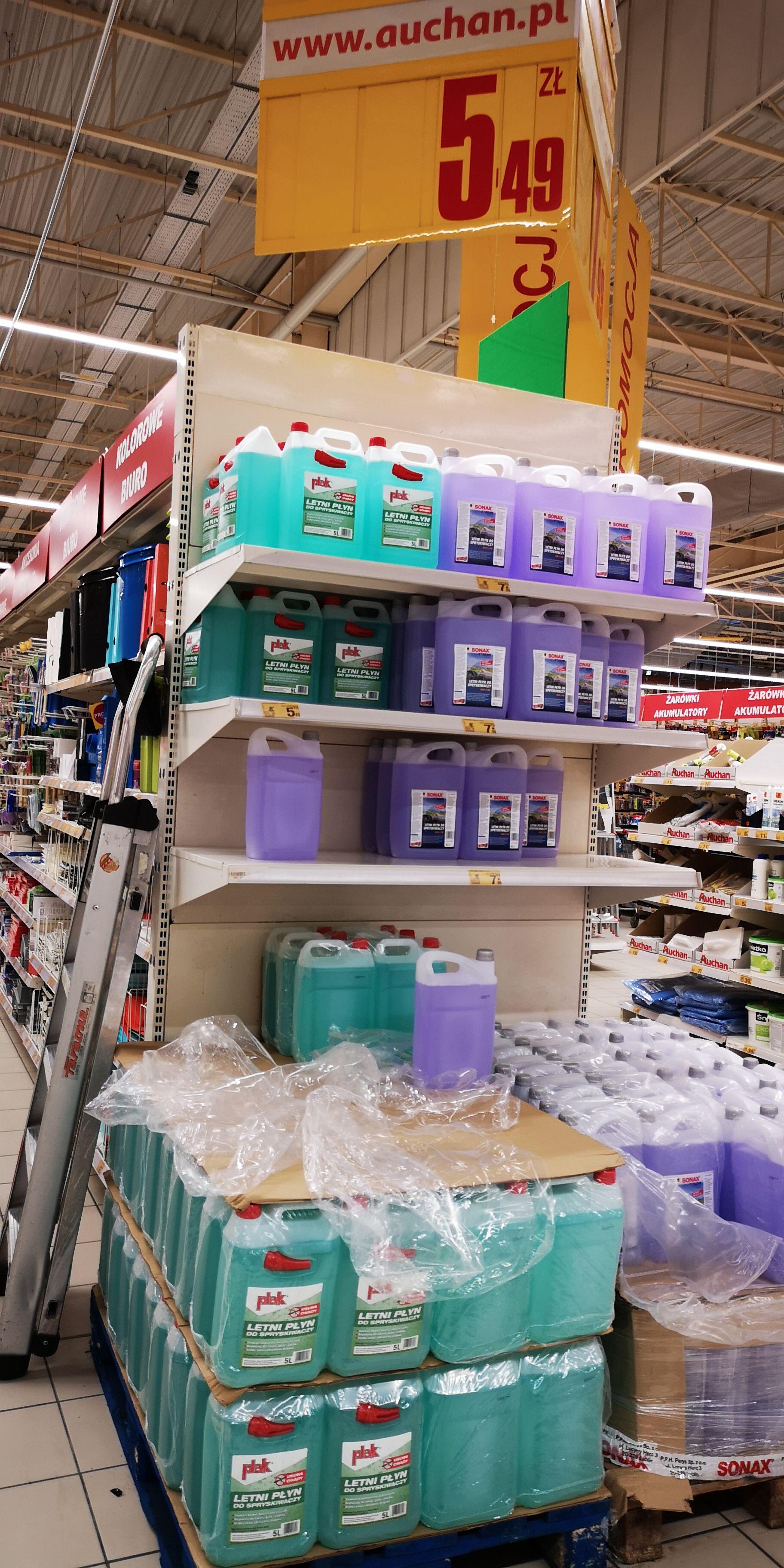 Letni płyn do spryskiwaczy Plak 5l Auchan Bydgoszcz Fordon