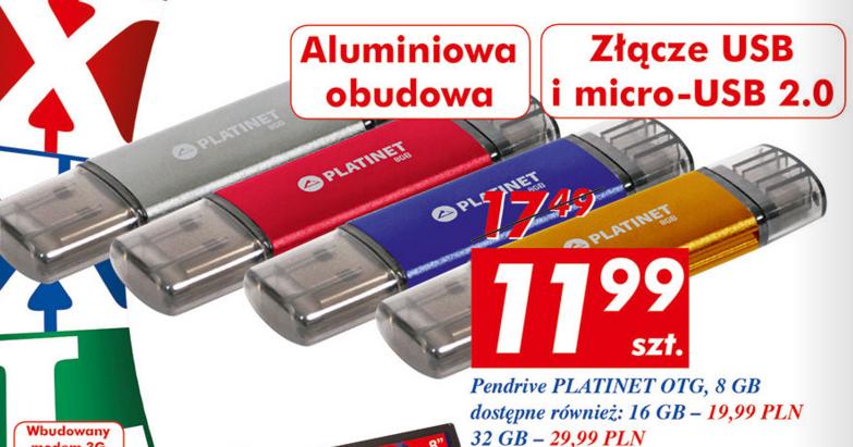 Pendrive Platinet OTB 32GB za 29,99zł @ Auchan