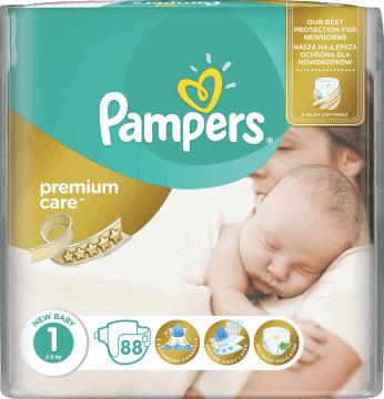 PAMPERS PREMIUM CARE 1 (88 szt.) - Rossman - 24 gr/ szt