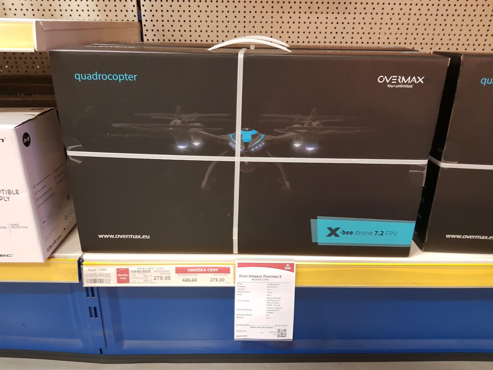 Dron Overmax X-Bee Drone 7,2 FPV w Selgrosie za 343,17 zł
