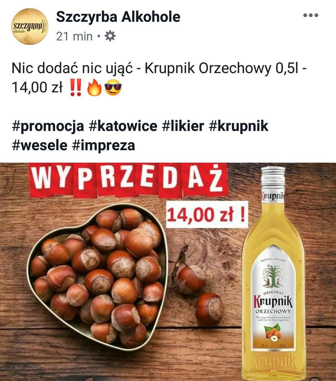 Krupnik orzechowy za 14zł @ Szczyrba Alkohole (Katowice)