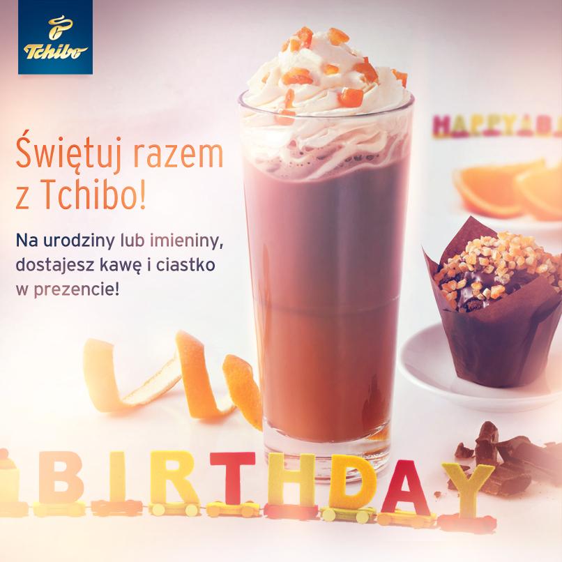 Kawa i ciastko na urodziny W PREZENCIE (+50% zniżki dla towarzysza) @ Tchibo