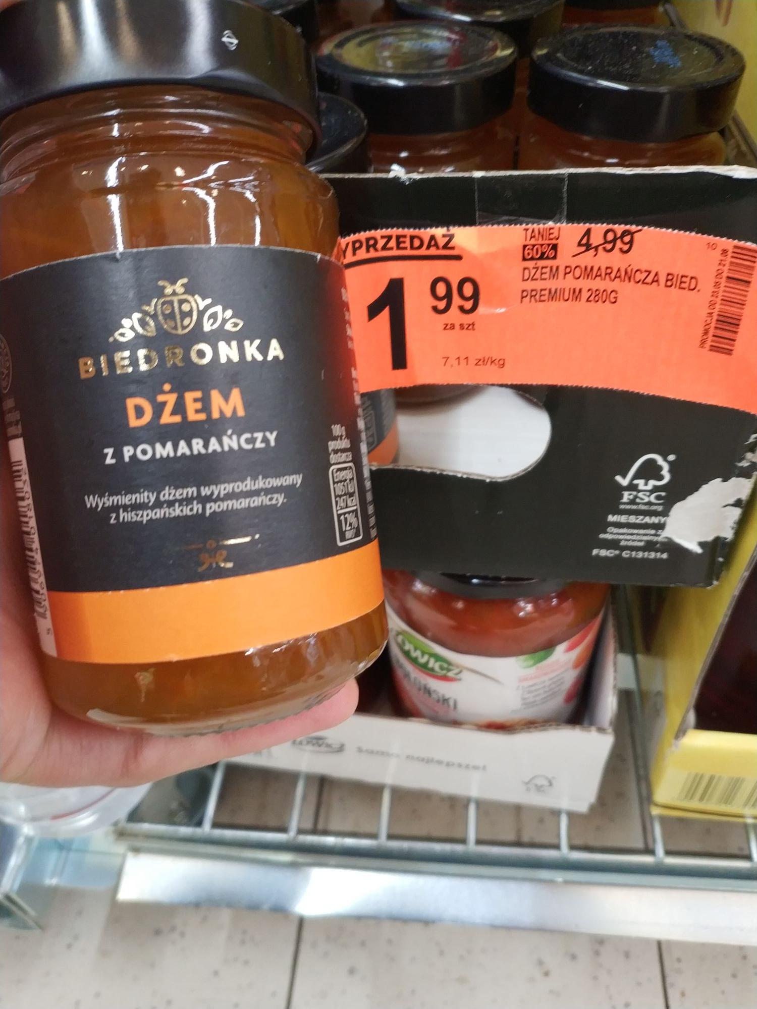Biedronka dżem pomarańczowy premium