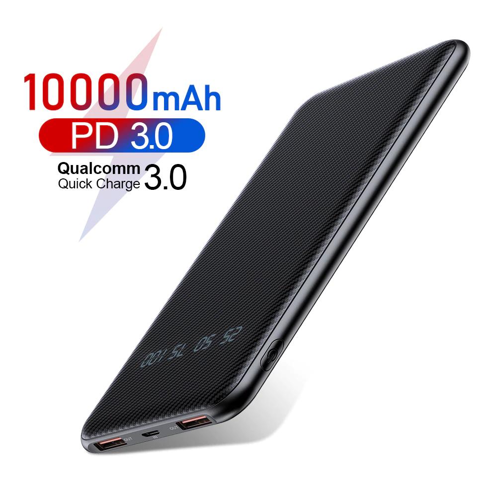 Powerbank Rock 10000mAh 18W PD3/QC3 USB-C, MicroUSB, USB