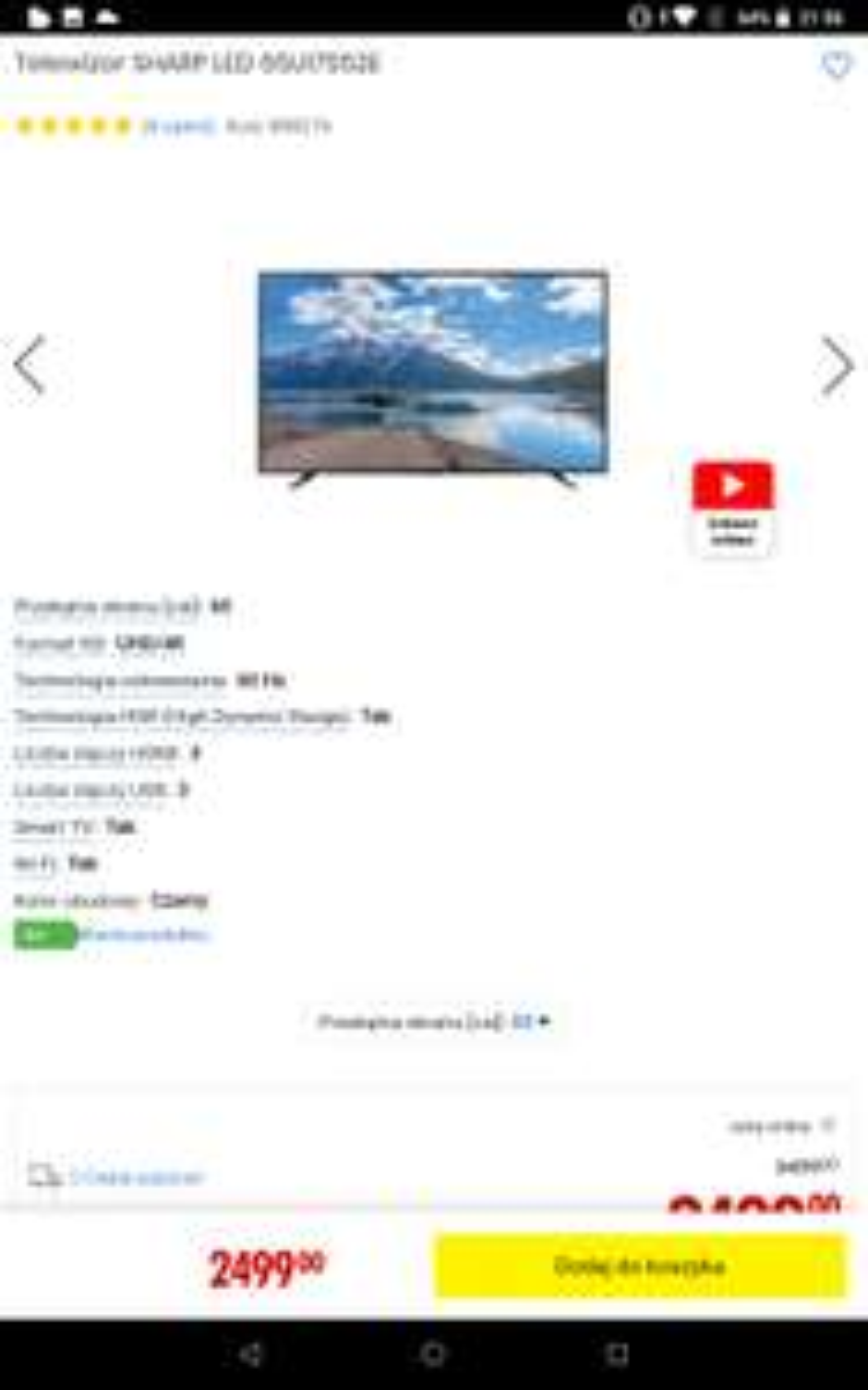 Telewizor SHARP LED 65UI7552E