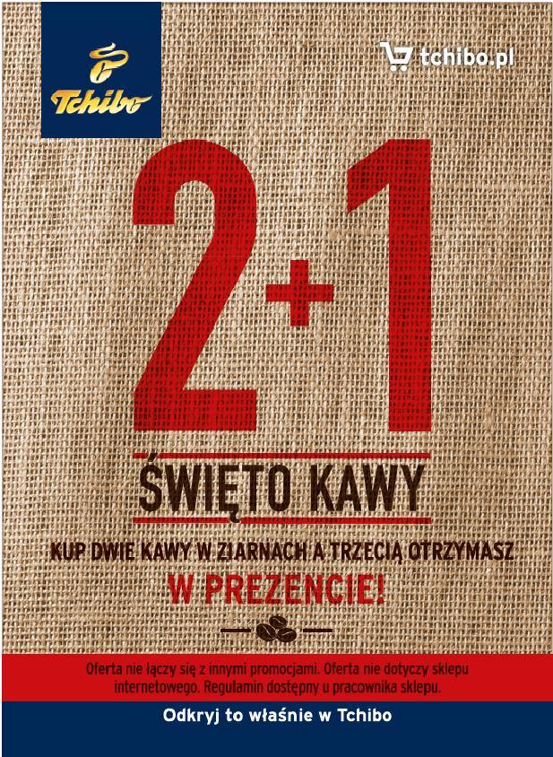 Święto Kawy Tchibo - Kup dwie kawy, trzecia gratis + kupon 15 PLN