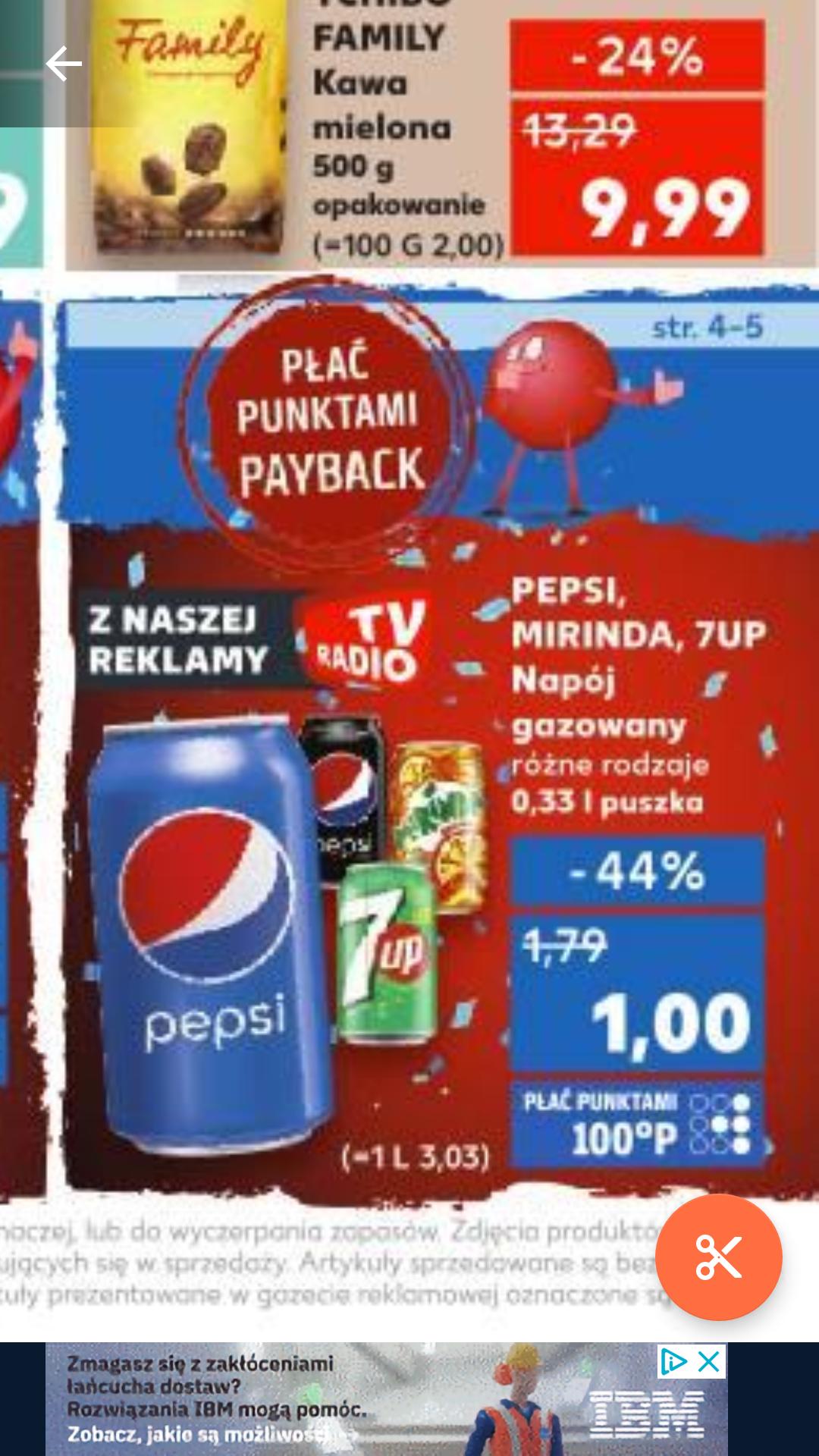 Puszka Pepsi,Mirinda,7up za 1zł w Kauflandzie