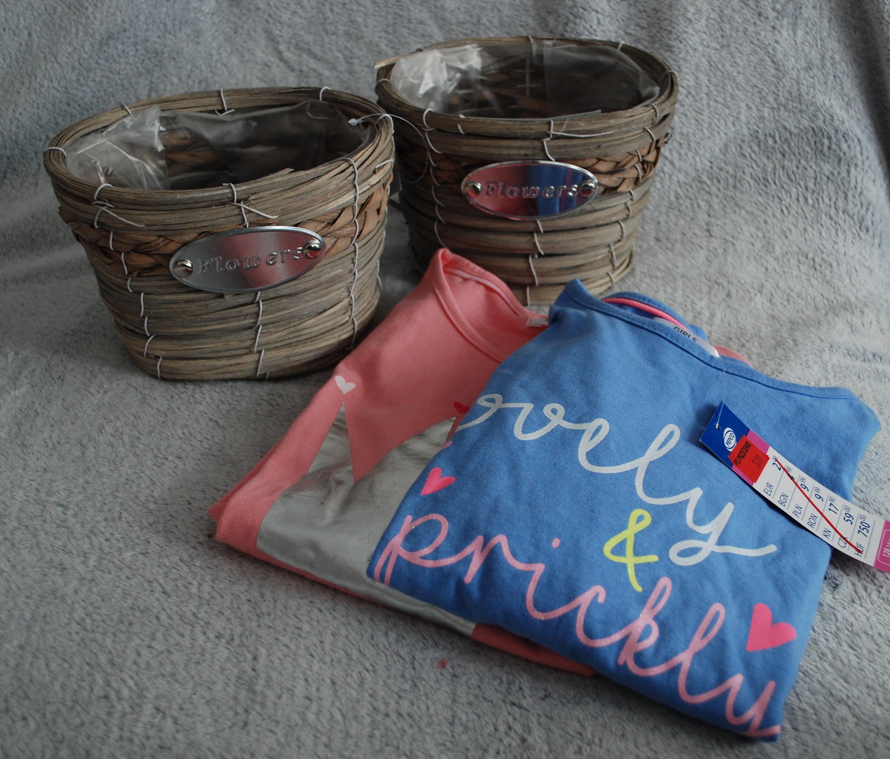Osłonka - koszyk, doniczka, bluzeczki dla dziewczynki, Pepco