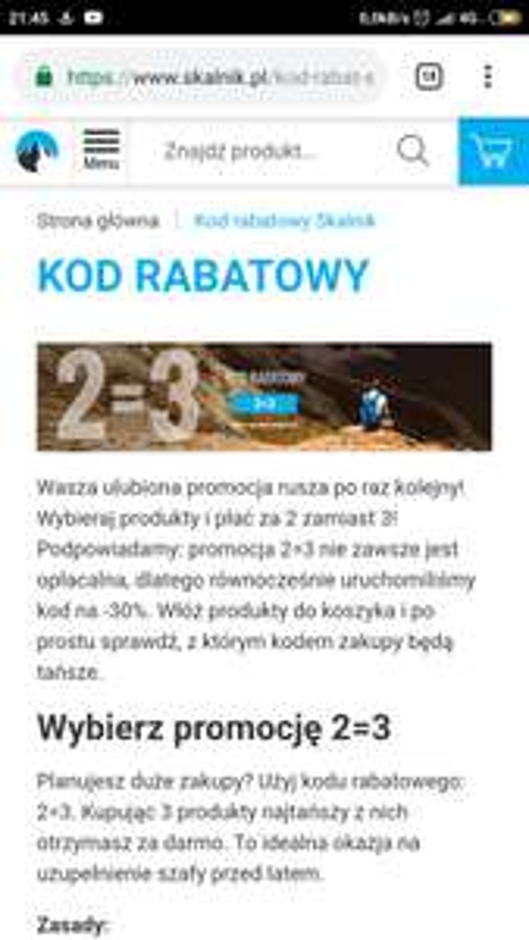 Skalnik.pl promocja 2=3 lub -30%