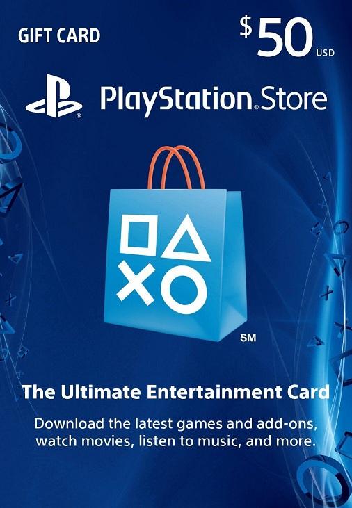 Karta upominkowa PSN PlayStation Store 50 USD USA za 149.53 zł