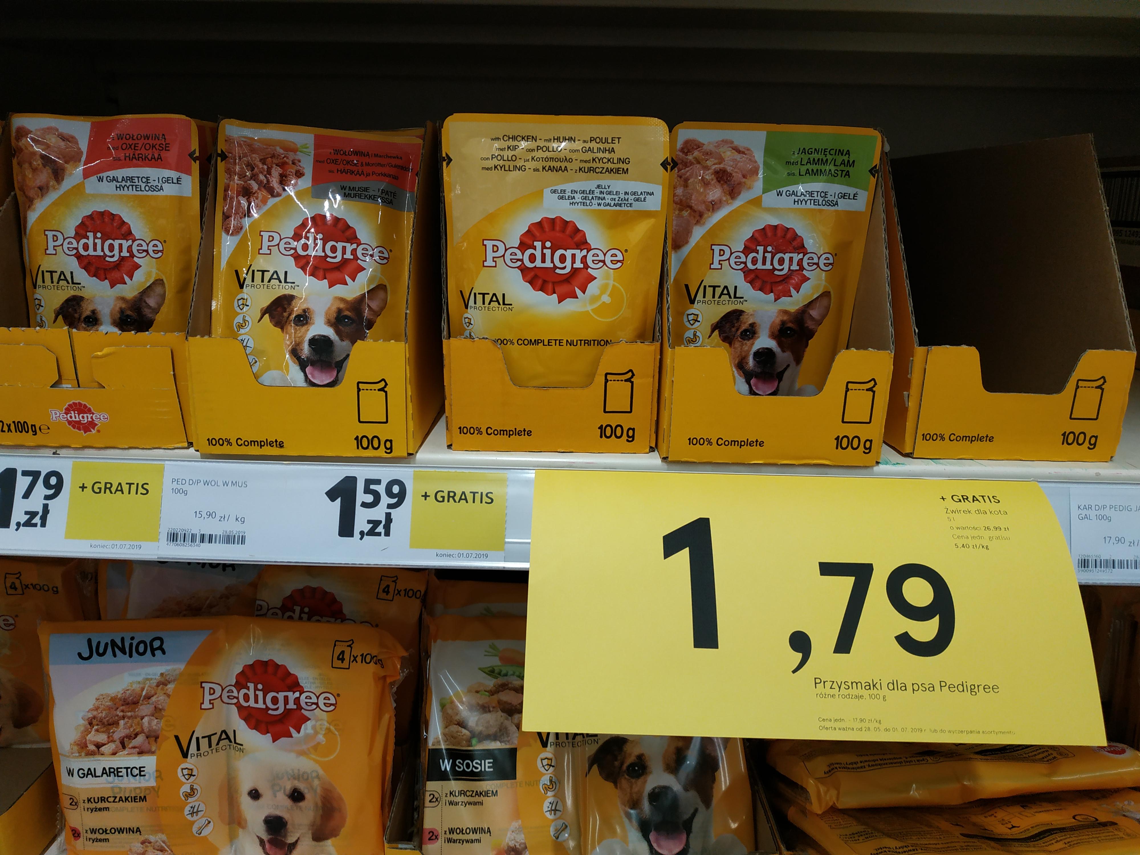 Żwirek dla kota 5l lub torba gratis przy zakupie produktu Pedigree TESCO