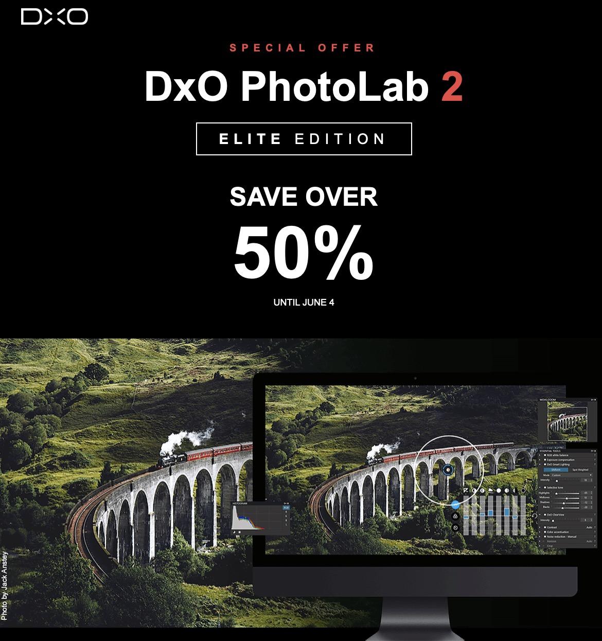 DXO Photolab 2 Elite macOS i Windows za 89 euro