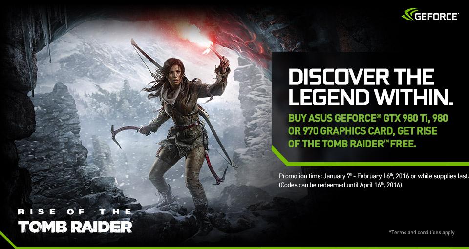Rise of Tomb Raider za darmo dla posiadaczy kart GTX 970 i lepszych @ Asus