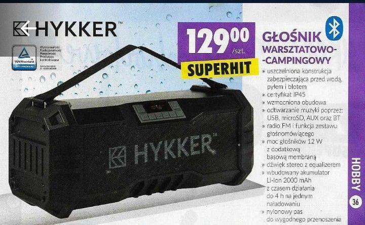 Głośnik Hykker BT z radiem@Biedronka
