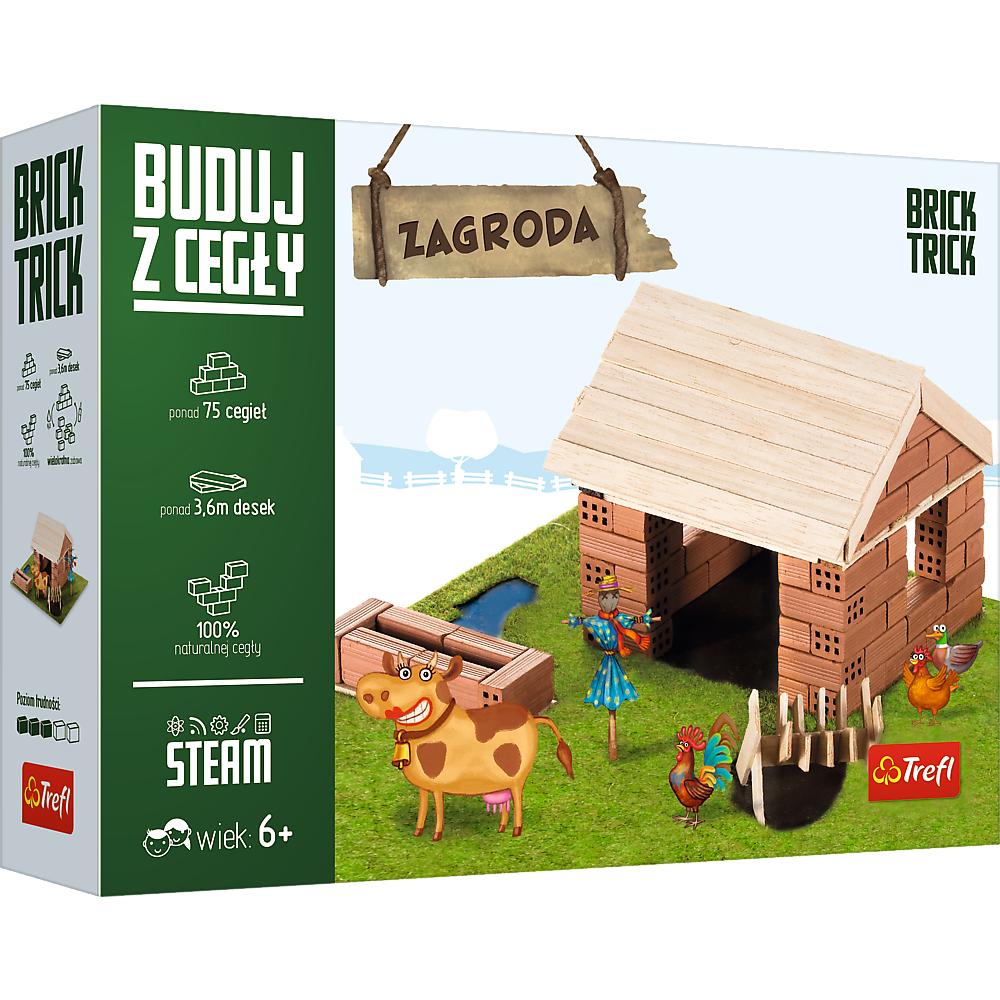 Zagroda Brick Trick Buduj z Cegły, Trefl zestaw kreatywny dla dziecka (M 60875), Auchan Białystok