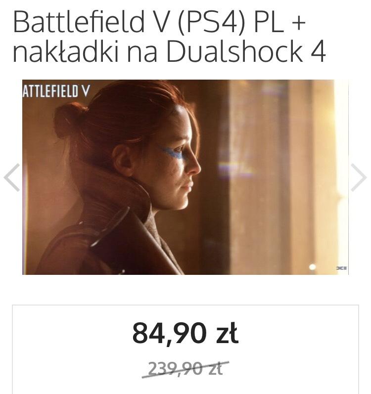 BattlefieldV ps4 + nakładki na gałki 85 zł (oraz inne gry od EA na muve.pl)