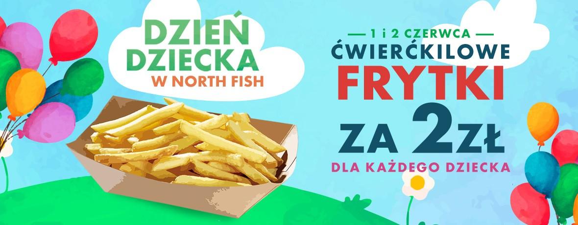 Frytki za 2zł dla każdego dziecka (250g) @ North Fish