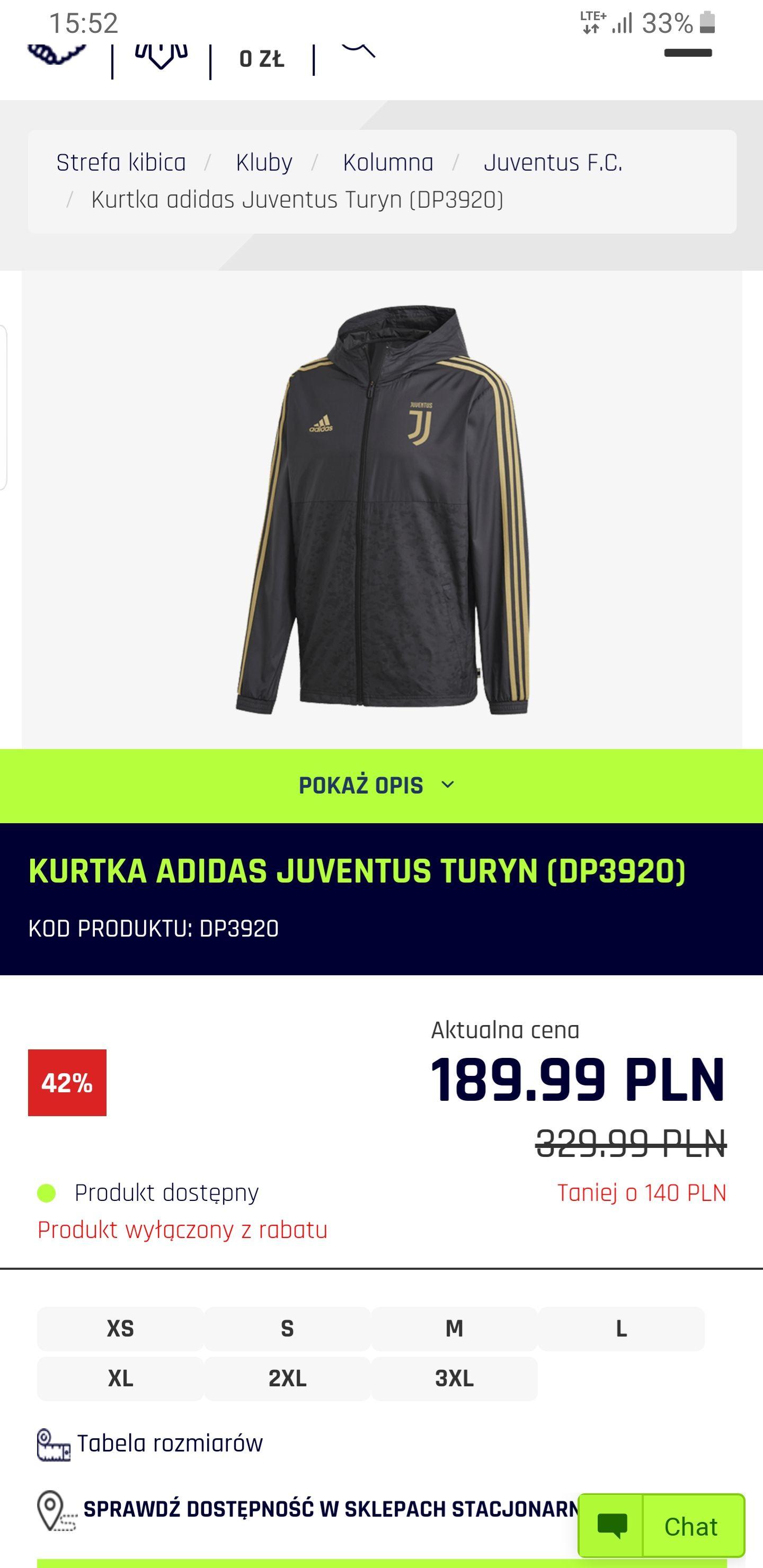 Kurtka Juventus Adidas DP3920
