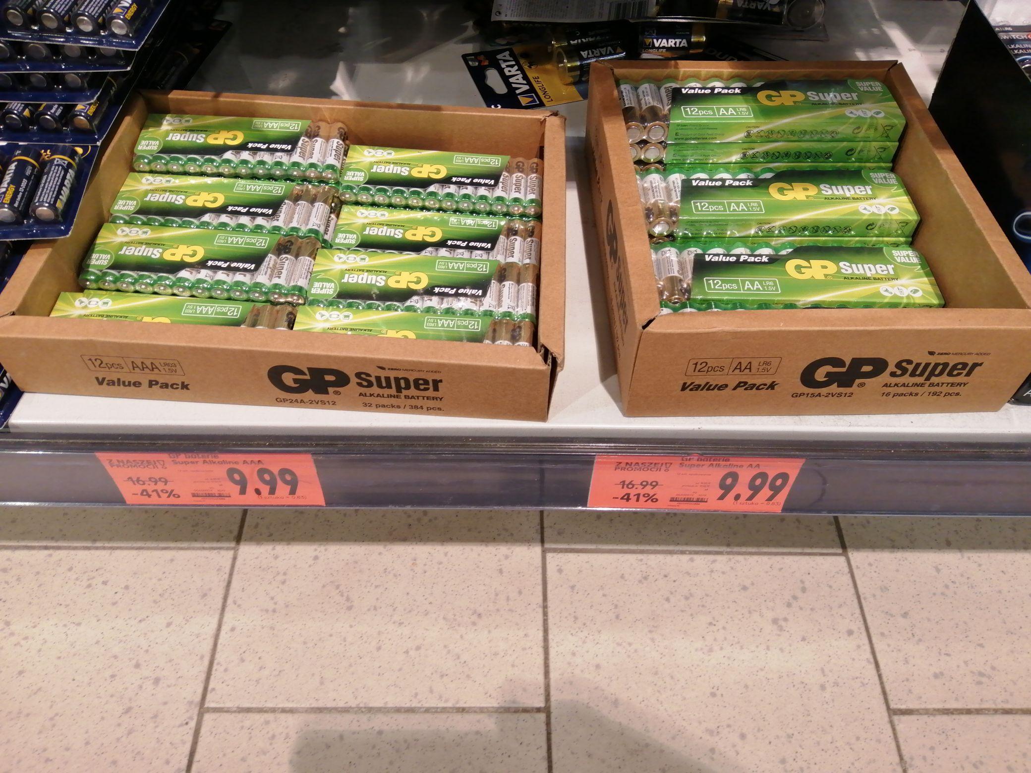 Baterie AA i AAA GP SUPER 12 szt w Kaufland