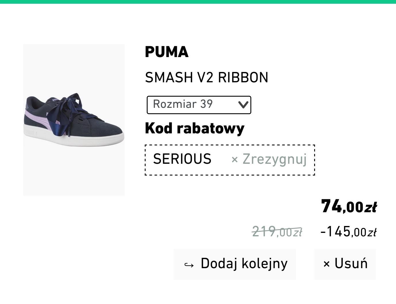 Damskie buty PUMA Smash V2 ribbon