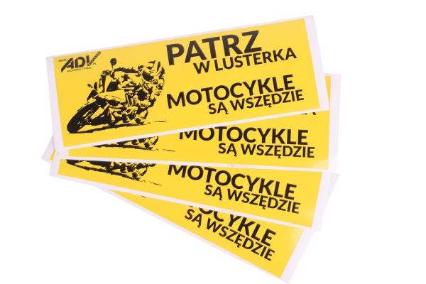 "Naklejki ""Patrz w lusterka..."" za darmo @ Moto Oxford"