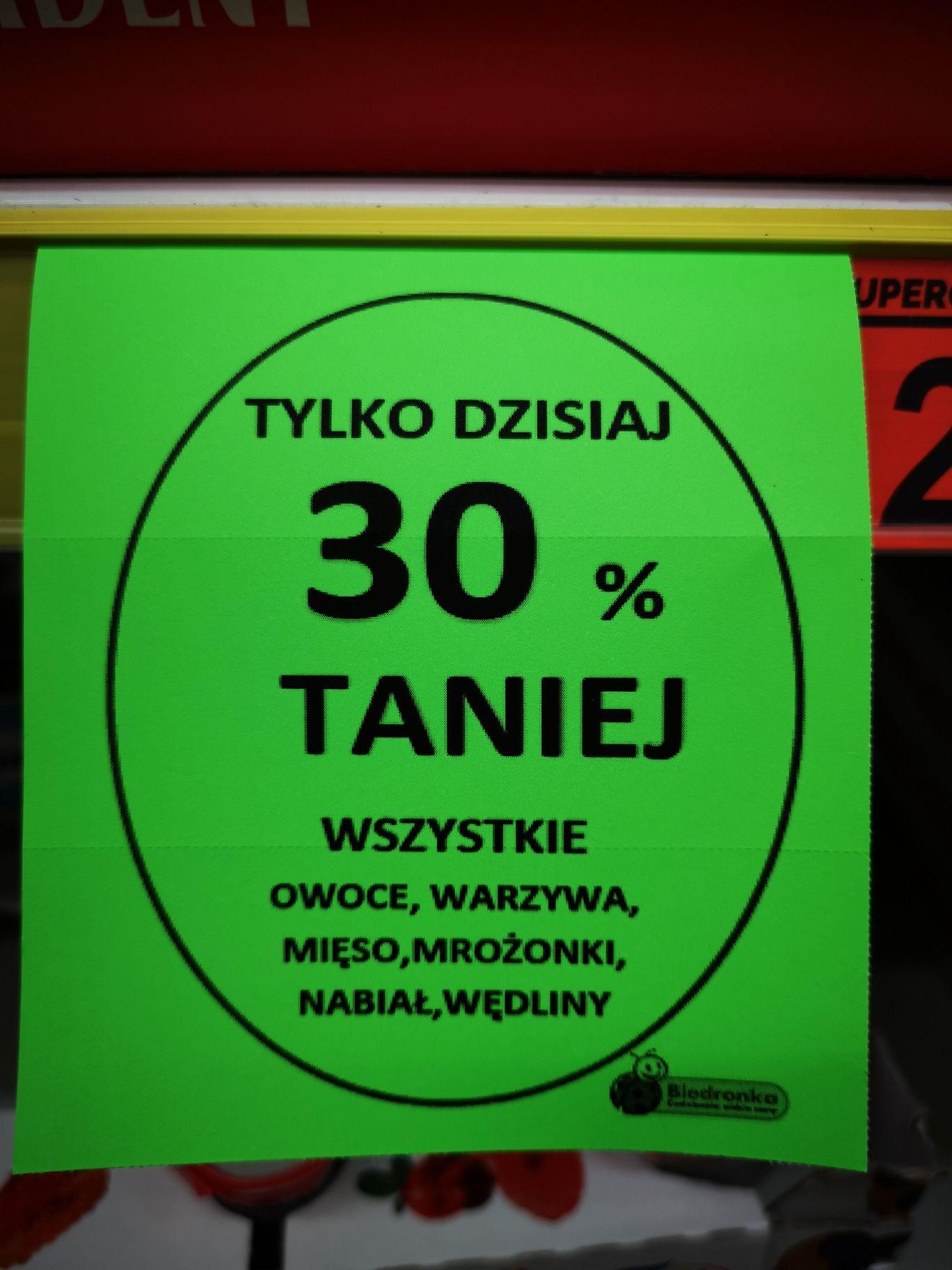 30% rabatu na wybrane artykuły - Biedronka Bydgoszcz Fordon Wyzwolenia