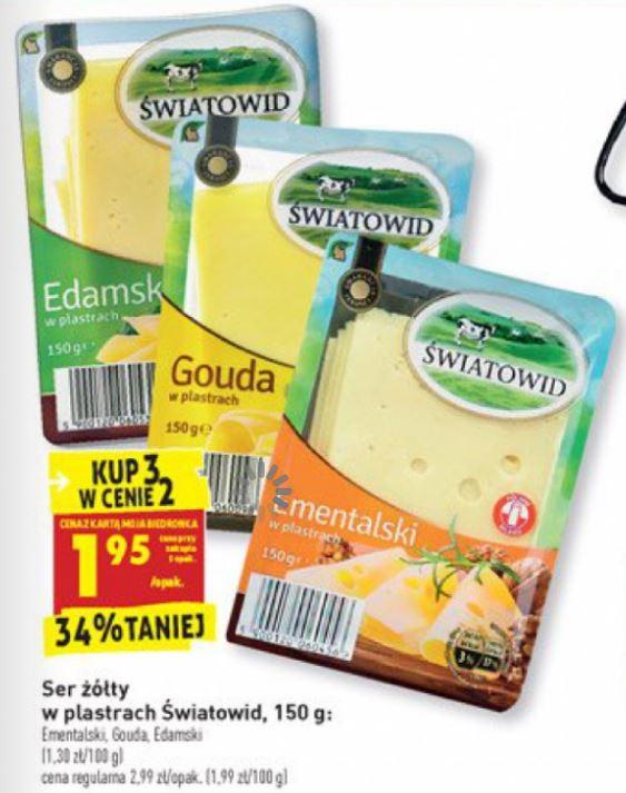 Ser żółty w plastrach światowid 150g @ Biedronka